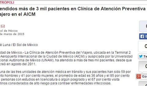 En la Clínica del Viajero de la UNAM se elaboran materiales para la educación de viajeros y profesionales de la salud