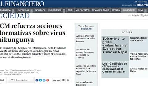 La Clínica del Viajero informa sobre el virus Chikungunya