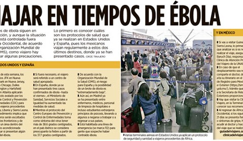 Recomendaciones para viajar en tiempos de ébola